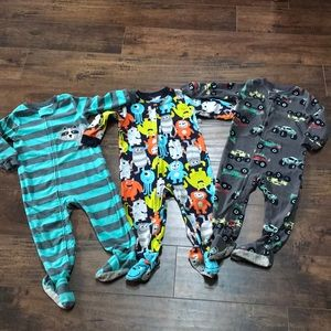 Carter's boys 24 mos fleece footy pajamas